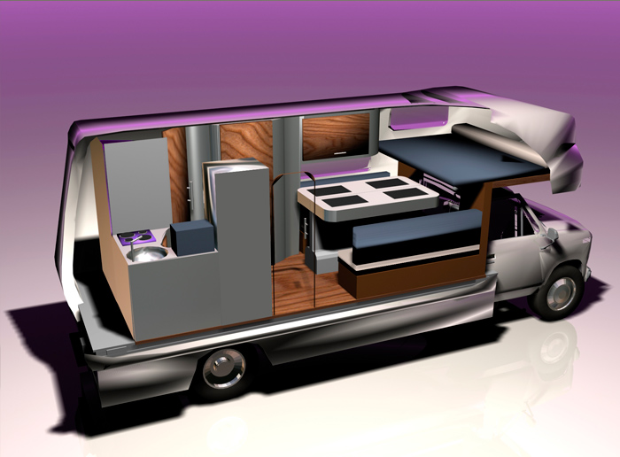 Camping car equilibra studio design et communication for Interieur de camping car